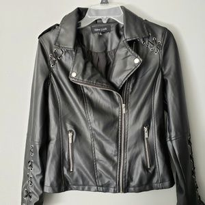 New Look Black Motorcycle Style Jacket S Small
